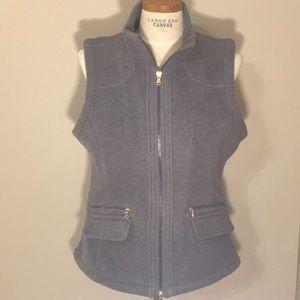 Heather blue fleece golf vest